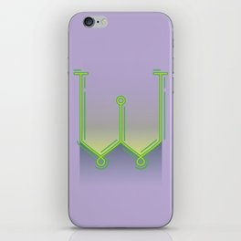 Alphabet Drop Caps Series- W iPhone Skin