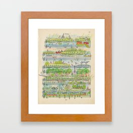 my village Framed Art Print