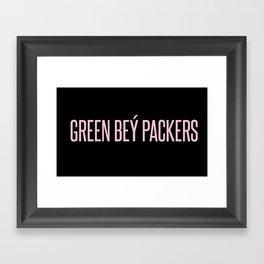 Green Bey Packers Framed Art Print
