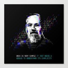 Dennis Ritchie - Tech Heroes series Canvas Print