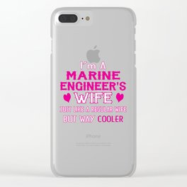 Marine Engineer's Wife Clear iPhone Case