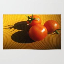 Abstract Tomato Rug