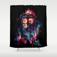 space Shower Curtains featuring All of Time and Space by Alice X. Zhang
