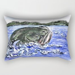 Jumping Bass Rectangular Pillow