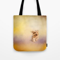 Into the Wind - Yorkshire Terrier Tote Bag