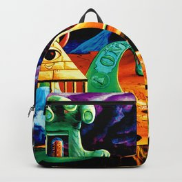 Trippy Psychedeic Surreal Art by VIncent Monao - The Practical Deception Backpack