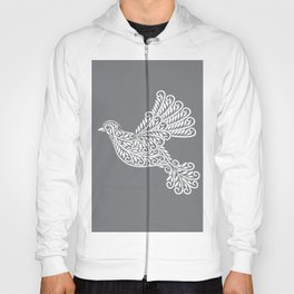 Peace, Dove, Gray and White Hoody