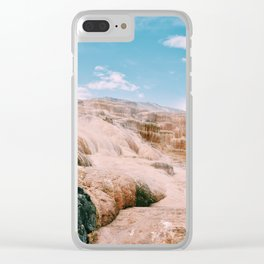 mammoth hot springs Clear iPhone Case