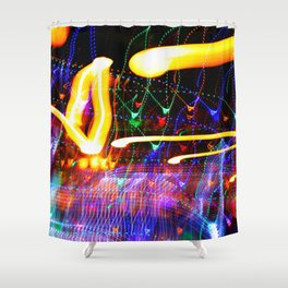 Love Moves Fast Shower Curtain