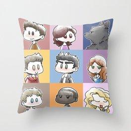 TW Cast Throw Pillow