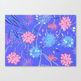 Heroinax Freaky Flowers Canvas Print