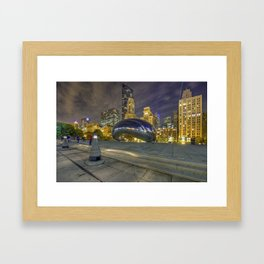 The Supermoon Over Chicago Framed Art Print