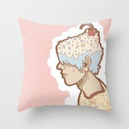 Ice Cream Boy Throw Pillow