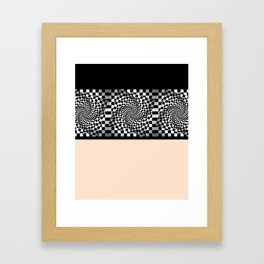 Chess pattern Framed Art Print