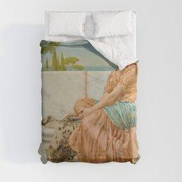 """John William Godward """"Reverie (In the Days of Sappho)"""" Comforters"""