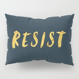 RESIST 6.0 - Freedom Gold on Navy #resistance Pillow Sham