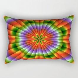 Pulsating Rainbow Wheel Rectangular Pillow