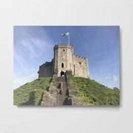 Cardiff Castle Keep-Wales UK Metal Print