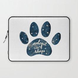 Adopt don't shop galaxy paw - blue Laptop Sleeve