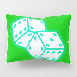 Two game dices neon light design Pillow Sham