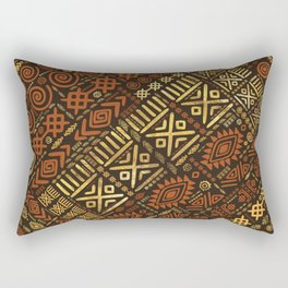Ethnic African Pattern- browns and golds #5 Rectangular Pillow
