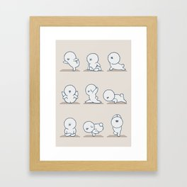 Bichon Frise Yoga Framed Art Print