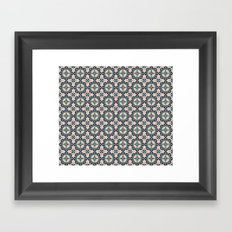 Cute blue retro elegant pattern Framed Art Print
