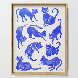 Cat Positions – Blue Palette Serving Tray
