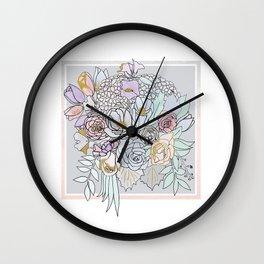 Bouquet 2 Wall Clock