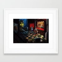 bioshock Framed Art Prints featuring Bioshock by Michele Giorgi