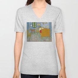Vincent van Gogh - The Bedroom in Arles Unisex V-Neck