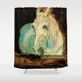 """Henri de Toulouse-Lautrec """"The White Horse Gazelle"""" Shower Curtain"""