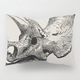 Dinosaur Skeleton Ink Pen Illustration Triceratops Pillow Sham