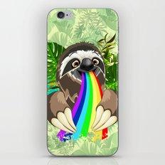 Sloth Spitting Rainbow Colors iPhone Skin