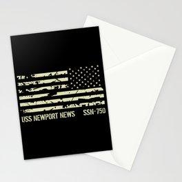 USS Newport News Stationery Cards