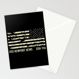 USS Newport News Stationery Cards