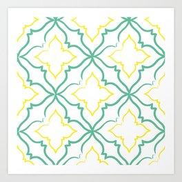 Alhambra Tile Pattern Art Print