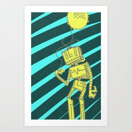 RoboBalloon Art Print
