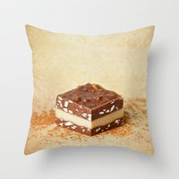 chocolate Throw Pillows featuring chocolate by lucyliu