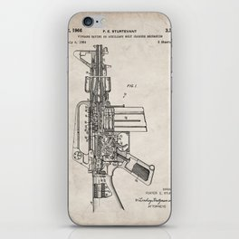 M16 Rifle Patent - Military Rifle Art - Antique iPhone Skin