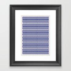 Blue Folk Art Framed Art Print