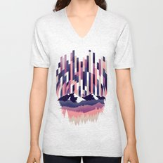 Sunrise in Vertical - Winter Purple Unisex V-Neck