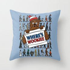Where's Wookiee Throw Pillow