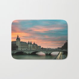 Paris by night France Bath Mat
