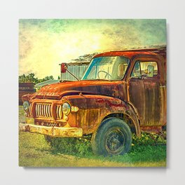 Old Rusty Bedford Truck Metal Print