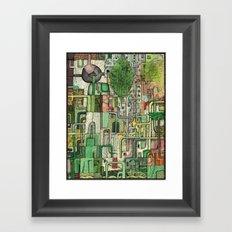 Green Kirkatron Framed Art Print