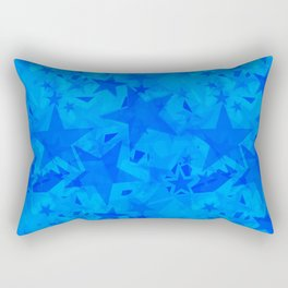 Calm intersecting heavenly stars on a blue background. Rectangular Pillow