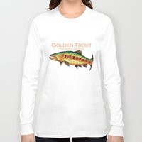 trout Long Sleeve T-shirts featuring Golden Trout by MoosePaw
