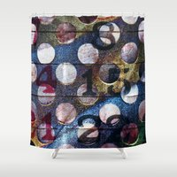 grid Shower Curtains featuring Grid by Stephen Linhart