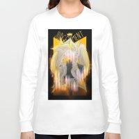 tarot Long Sleeve T-shirts featuring Judgement Tarot by Jess Clapper